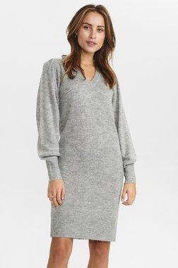 Nümph 700969 NUCHANEY waistDámský kabát 0510 Light grey mel 0510 Light grey