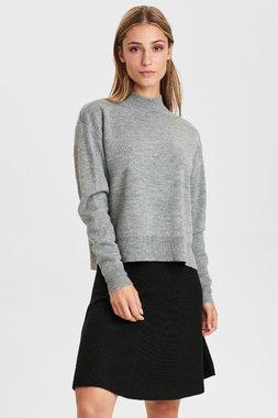 Nümph 701087 NUPILLYWOOLI waistDámský kabát 0510 Light grey mel 0510 Light grey
