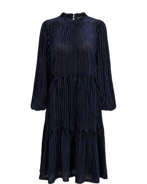 Nümph 701159 NUBESSIE waistDámský kabát 3038 Dark Sapphire 3038 Dark Sapphire