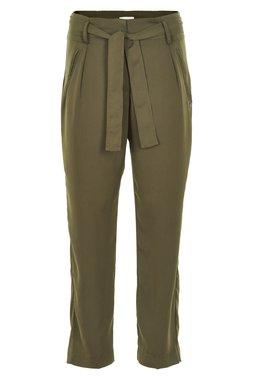 Nümph 7119610 ADALYN Dámské kalhoty tmavě zelené