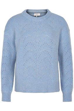 Nümph 7120222 NUANNIK PULLOVER Dámský svetr modrý
