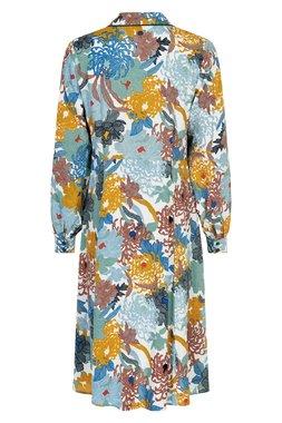 Nümph 7120804 NUABALINA DRESS Dámské šaty béžové se vzorem