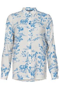 Nümph 7220017 NUARZILLA Dámská košile 3055 P. COAST modrá