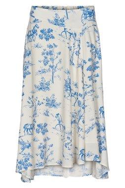 NÜmph 7220108 NUARIZILLA Dámská sukně bílá s modrým vzorem