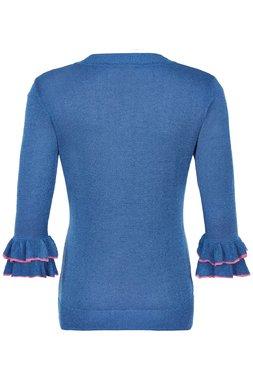 Nümph 7220217 NUJAZLYNN Dámská pletená halenka modrá