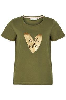 Nümph 7220320 NUAZILIZ Dámské triko zelené