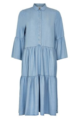 NÜmph 7220802 NUANNA Dámské šaty 3010 L.B.DENIM modrá