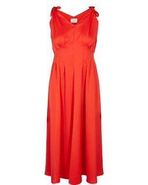 Nümph CYRILLA Dámské dlouhé šaty červené