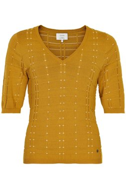 Nümph 7320208 NUAMALISA Dámský svetr 1024 HARVEST 1024 žlutá