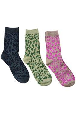 NÜmph 7519407 MILLAY 3-PACK GLITTER Dámské ponožky mix barev jedna velikost