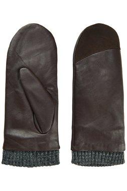 Nümph 7519448 MORNA Dámské kožené rukavice hnědé