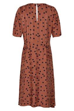 Nümph 7519815 MEENA Dámské šaty 5024 MAHOGANY hnědé