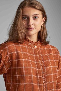 Nümph 7520016 NUBETHESDA Dámská košile 5018 LEATHER BR hnědá