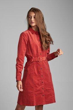 Nümph 7520827 NUMAURYA Dámské šaty 2020 BARN RED oranžová