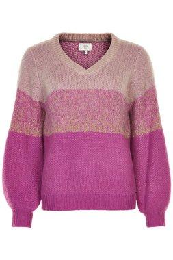 Nümph 7619210 NUNAAMAH V-NECK Dámský svetr růžový