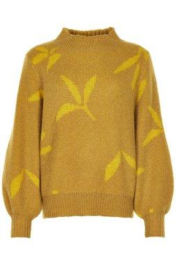 Nümph 7619217 NUNADYA PULLOVER Dámský svetr hořčicově žlutý
