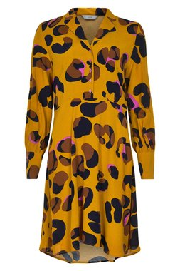 Nümph 7619812 NUMARJORIE DRESS Dámské šaty hořčicově žluté
