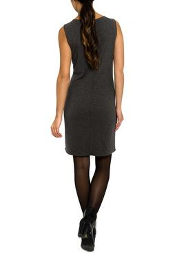 Smash LATIA krátké pouzdrové šaty bez rukávů šedé se vzorem