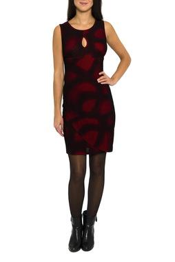 Smash FORTUNY krátké šaty červené se vzorem