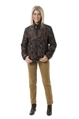 Smash MAKU dámská krátká bunda hnědá se vzorem
