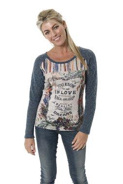 Smash EDANA tričko s dlouhým rukávem béžové se vzorem