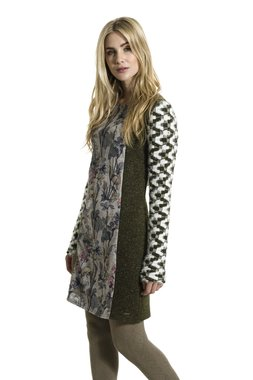 Smash LOWEN krátké šaty tmavě zelené se vzorem