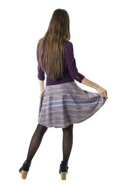 Smash EFFETE krátká sukně fialová s proužky