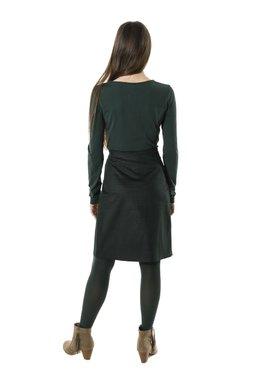 Smash LUZON krátká sukně tmavě zelená se vzorem