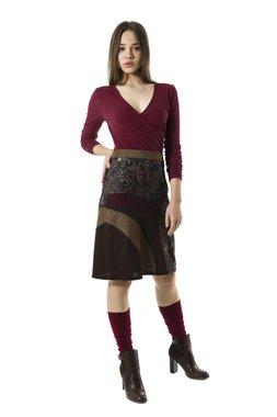 Smash KERRIA krátká sukně hnědá se vzorem
