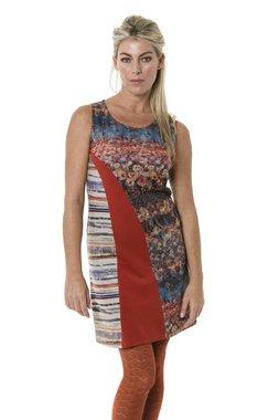 Smash DANA šaty oranžové se vzorem AKCE1