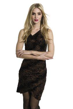 Smash EMILIA krátké šaty hnědé Glam&Shine