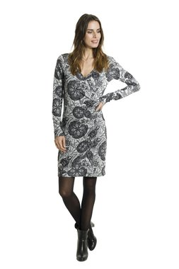 Smash AVELINA krátké šaty černé se vzorem