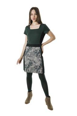 Smash MAGNOLIA krátké pouzdrové šaty tmavě zelené se vzorem