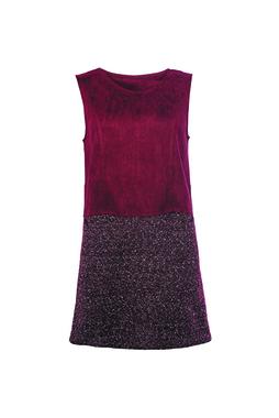 Smash EUBEIA Dámské šaty tmavě červené