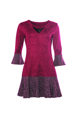 Smash FRESA Dámské šaty tmavě červené