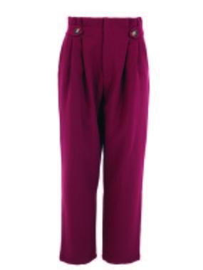Smash CECILY Dámské kalhoty tmavě červená