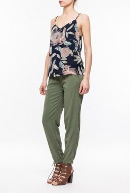 Ryujee AVAL kalhoty olivově zelená