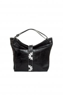 Mamatayoe Baco kožená kabelka černá
