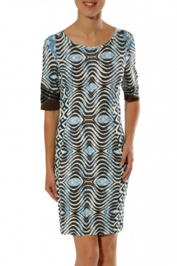 Paramita CASUAR dámské šaty modré se vzorem