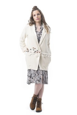 Mamatayoe Creme Dámský kabátek bílý