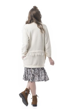 Mamatayoe Creme Dámský kabát bílá