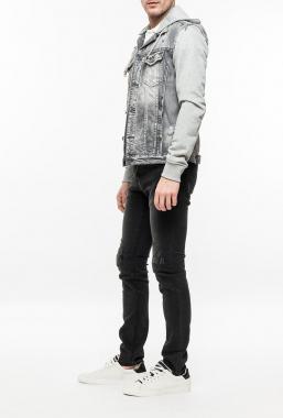 Ryujee CRUZ 2053 džínová bunda bleach