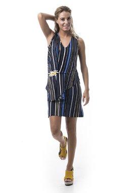 Mamatayoe Folegandros Dámské šaty černé se vzorem