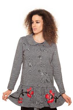 Mamatayoe GIULIA kabátek šedý se vzorem
