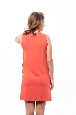 Mamatayoe Granada Dámské krátké šaty oranžové - indi