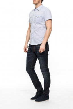 Ryujee HAWK košile s krátkým rukávem modrá