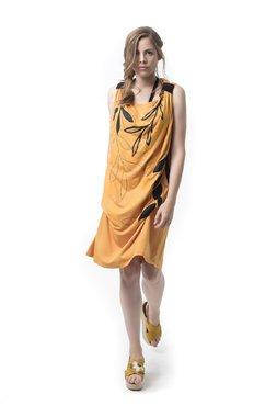 Mamatayoe La Mandragola Dámské šaty žluté