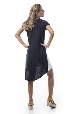 Mamatayoe Limeni Dámské šaty černé se vzorem