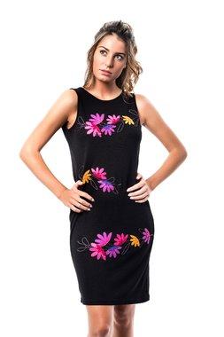 Mamatayoe Lebeche Dámské krátké šaty černé - lola