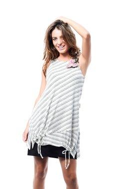 Mamatayoe Madonetta Dámské krátké šaty bílé se vzorem - ginger